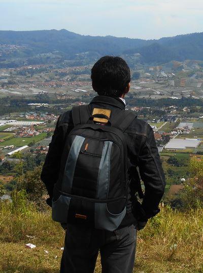 tas ransel backpack 1706 hitam abu